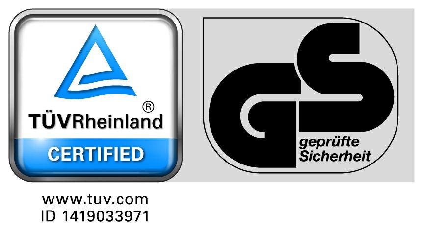 TÜV Rheinland Certified and Geprüfte Sicherheit - เครื่องหมายรับประกันคุณภาพสินค้า ID 1419033971 - KCB Sling Co., Ltd.